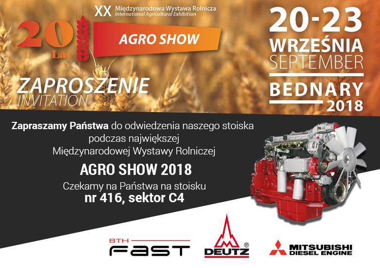 Targi Agro Show 2018 - BTH Fast Deutz